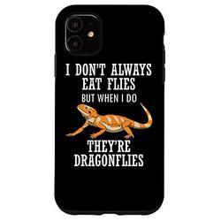 iPhone 11 Bearded Dragon Eat Dragon Flies Reptile Lizard Case