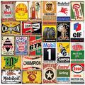 26 Pieces Gas and Oil Tin Signs, Retro Vintage Metal Sign for Home Man Cave Garage,8x12 Inch/20x30cm Courtyard decoration