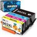 INKFUN Compatible Ink Cartridge Replacement for HP 902XL 902 XL Ink Cartridge Combo Pack for HP Officejet Pro 6978 6968 6962 6958 6970 Ink Cartridges,4-Pack(1 Black, 1 Cyan, 1 Magenta,1 Yellow)