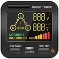 Outlet Tester, EBTN LCD 3 Results Display Socket Tester, Integrated Voltage Detector, GFCI Receptacle Tester Power Circuit Analyzer American Wall Plug Leakage Tester Electricity Line Fault Checker