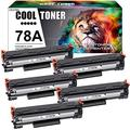 Cool Toner Compatible Toner Cartridge Replacement for HP 78A CE278A Toner HP Laserjet P1606dn 1536dnf MFP M1536dnf HP Laserjet 1606dn P1606 P1566 P1560 Toner Cartridge Printer Ink (Black, 5-Pack)