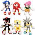 Sonic Stuffed Doll Set 6pcs/lot Sonic Stuffed Toys Doll Blue Shadow Sonic Stuffed Soft Stuffed Toy Plush For Children Birthday Gifts Cotton Dolls Pendant Toys