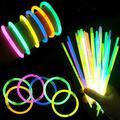 RANRAN 100pcs Disposable Luminous Fluorescent Sticks,Bulk Glowsticks Party Favor,Bracelets Necklace Glow In The Dark,Children's Toys