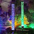 Solar Landscape Lights, 2 Pack Path Lights, LED Color Changing Solar Powered Garden Stake Lights for Patio Garden Backyard Pathway Decoration