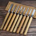 8Pcs Wood Turning Tools Woodworking Lathe Chisel Set Woodturning Tools for The Beginner To Intermediate Wood Turner with Beech Handles for Wood Working