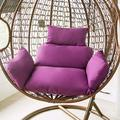 ZJHTK Egg Hammock Chair Cushion Garden Hanging Swing Chair Wicker Rattan Cushion Basket Swing Seat Mat for Indoor Outdoor Patio Backyard Lawn(No Chair),Purple