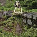 Resin Bird Feeder Bird Feeders for Outside, Sherwood Fern Fairy Statuary Fairy Statuary Fairy Statue Holding Bird Food Container Ornament Outdoor Garden Statue Super Cute
