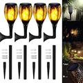 SKYWPOJU 4/8-Pack Solar Torch Lights,Updated 20 inch 12LED,Waterproof Flickering Flame Solar Torches Dancing Flame Landscape Decoration Lighting Dusk to Dawn Outdoor Pathway Light for Garden Patio Dri