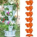 Fir ceda Stackable Garden Planters,Indoor Outdoor Vertical Planter Stand Stacking Planters Strawberry Planting Pots,Self Watering Tiers from Top Down, Vertical Garden Planters Garden Tower Brick red