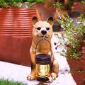 YONGMEI Solar Statue Garden Ornaments Solar Garden Statue, Solar Garden Light Lantern, Outdoor Dog Resin Decoration Lamp, Waterproof Landscape Lighting for Patio, Lawn, Yard (Color : D)