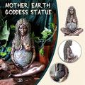 kuokuo Mother Earth Goddess Statue, Suitable for Living Room and Garden, Mother Earth Art Statue polyresin Figurine Mother Earth Statue 15cm, Millennial Gaia Statue - Mother Earth (A)