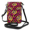 IBILIU Leopard Skin Crossbody Cell Phone Purse for Women Men,Animal Print Animal Skin Funny Comic PU Leather Crossbody Phone Pouch Phone Bag