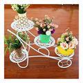 Flower Stand Indoor Metal Flower Holder, Multi-Layer Indoor Floor Stand, Floor-Standing Flower Stand, Flower Pot Holder Tier Flower Stand (Black) HOLPPO (Color : White)