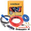 LEIGESAUDIO 8 Gauge Subwoofer Wiring Kit Ture 8 AWG Amplifier Installation Wiring Kit - Car Amp Wiring Kit Helps You Make Connections and Brings Power to Your Radio, Subwoofer and Speakers