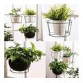 Iron Hanging Planter Basket, Small Hanging Metal Wire Planters Flower Wall Holder Flower Pots Hanger Round Plant Holder Porch Plant Hanger Decor Home Decor Garden Balcony Indoor Outdoor (1PC, Black)