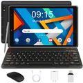 Android 10.0 Tablet PC 3GB RAM 32GB Storage 128GB Expandable 1280X800 HD IPS Display Tablet, Quad-Core 1.6Ghz WiFi Reading Version (8 inch, Tablet with Keyboard, Black)