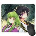 Lok Grade Code Geass Anime Large Mouse Pad with Stitched Edges, 9.811.8 Inches, Natural Non-Slip Rubber Base, Suitable for Laptops, Computers and Pcs