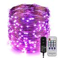 ER CHEN Fairy Lights Plug in, 99Ft/30M 300 LED Starry String Lights Outdoor/Indoor Waterproof Copper Wire Decorative Lights for Bedroom, Patio, Garden, Party, Christmas Tree (Purple)