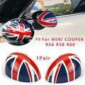 ZXCVBNM 1Pair Car Rear View Mirror Cover Manual Fold Wing Mirror Cap Cover Casing Union Fit for Mini Cooper R56 R58 R60 Car Rearview Mirror Cap Cover