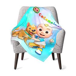 Cocomelon Baby Blanket Super Soft Blanket Fleece Toddler Blanket with Sloth for Kids 30 x 40 Inch