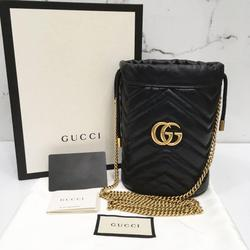 Gucci Bags | Gucci Gg 575168 Black Chain Bucket Sling Bag | Color: Black | Size: Os