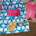 Lilly Pulitzer Accessories | Lily Pulitzer Floral Dress Key Chain | Color: Pink | Size: Os