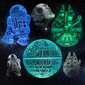 3D Illusion Star Wars Night Light Gift for Kids, Star Wars Night Lamp Toy for Room Decor with 3 Patterns&16 Color Change, Birthday Gifts for Boys Girls Star Wars Fans, Star Wars Toys Gift for Kids