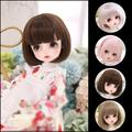 BJD – perruque de poupée sd noire à boucles courtes, en fibre de haute température, résistante à la