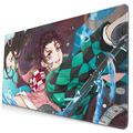 Mouse Pad 15.8x29.5In Demon Slayer Waterproof Non-Slip Rubber Base Laptop Computer Mousepad,Keyboard Mouse Mat with Stitched Edges