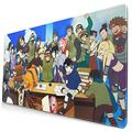 Mouse Pad 15.8x29.5In Fond d écran Naruto Konoha Waterproof Non-Slip Rubber Base Laptop Computer Mousepad,Keyboard Mouse Mat with Stitched Edges