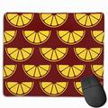 Lemon Slices Seamless Pattern Mouse Pad with Non-Slip Rubber Base and Waterproof Mousepad with Stitched Edges Mouse Pads for Computers Laptop Gaming Office & Home