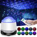 Night Light Projector, [2021 Upgraded] Uverbon Ocean Wave Projector with White Noise Machine & Bluetooth Music Speaker, Remote Control & Timer Off for Baby Kids Room, Home Theatre, Party, Game Room