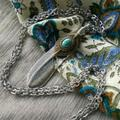 Free People Jewelry | Free People Jewelry Necklace Turquoise Silver | Color: Blue/Silver | Size: Os