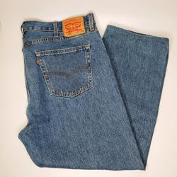 Levi's Jeans | Levi'S 505 Red Tag Washed Straight Jeans 4230 | Color: Blue/Red | Size: 42