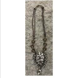 J. Crew Jewelry   J.Crew Necklace Statement Layered Crystal Rhines   Color: Red   Size: Os