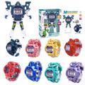 Déformation Robot montre enfants électronique montre-bracelet Robots Transformation créative dessin