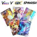 Cartes Pokemon en espagnol TAG TEAM GX VMAX, entraîneur d'énergie, cartes de jeu holographiques, jeu