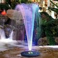 Garden Decoration Floating Bird Bath Fountain, Windmills For The Yard, Battery Backup Led Lights New Spray Headsfor Bird Bath Outdoors Fish Tank Small Pond Pool Garden And Lawn