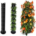 Plant Flower Tower,Flower Tower Freestanding Planter,Hanging Vertical Planter with Drainage Hole,Freestanding Flower Tower Standing Garden Plant Container,Home Indoor Decoration (A)