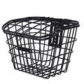 Bicycle basket 1pcs Sturdy Useful Durable Practical Bike Front Basket Electric Bike Basket Bike Storage Holder Bike Accessory Exquisite workmanship, wear-resistant and durable (Color : Black)