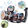 ShiRui Gatling Bubble Machine, 5 Hole Huge Amount Automatic Bubble Maker for Kids, Bubble Gun Outdoor Toys for Boys Bubble Machine