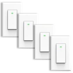 Bazz 6-Amp Single Pole Light Switch in White, Size 4.75 H x 2.75 W x 0.2 D in   Wayfair SWTCHWFW1X4