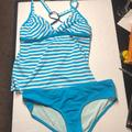 Nike Swim | Nike Blue Two Piece Swimsuit Size Xl | Color: Blue/White | Size: Xl
