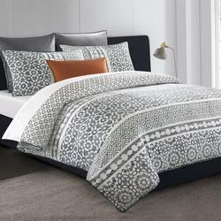 Red Barrel Studio® Super King Tuscany Cover in Gray/White, Size King Duvet Cover + 2 Pillow Cases | Wayfair D99B294911684D7190B43CDC03B60D1A