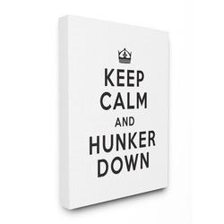 Stupell Industries Keep Calm & Hunker Down Stay Home Sign by Urban Road - Graphic Art PrintCanvas & Fabric/Metal in Brown   Wayfair ab-041_cn_30x40