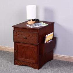 Red Barrel Studio® Wood Bedside Storage Table Cabinet 2-Drawer Nightstand, Size 24.0 H x 18.0 W x 17.9 D in   Wayfair