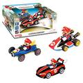 Carrera Pull & Speed 15813016 Official Licensed Kids Toy Car Pull Back Vehicle for Ages 3 and Up - Mario Kart Mario / Wild Wing Mario / Mach 8 Mario