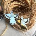 Étiquettes d'ange personnalisées avec nom et Date, signe d'ange de Communion, cadeau de baptême pour