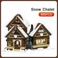 Noël série hiver Village scène neige maison modèle vacances ville rue vue blocs de construction