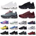 Chaussures de course à bascule tn plus se pour hommes, baskets de sport, Triple, noir, blanc, 3